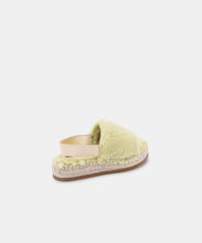 KEYA SLIPPERS IN LIME FAUX FUR -   Dolce Vita