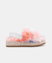 KEYA SLIPPERS ORANGE MULTI FAUX FUR -   Dolce Vita