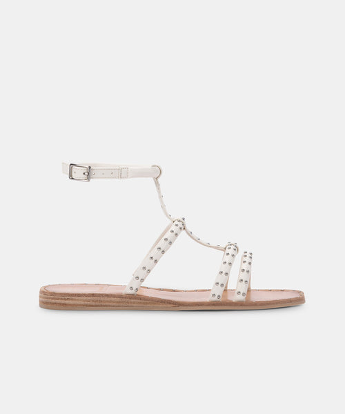 KOLE WIDE SANDALS OFF WHITE STUDDED STELLA -   Dolce Vita
