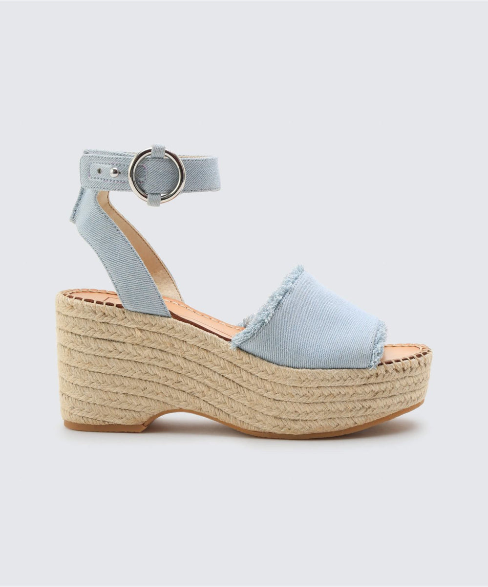 07d7a7cc757 LESLY WEDGES IN DENIM