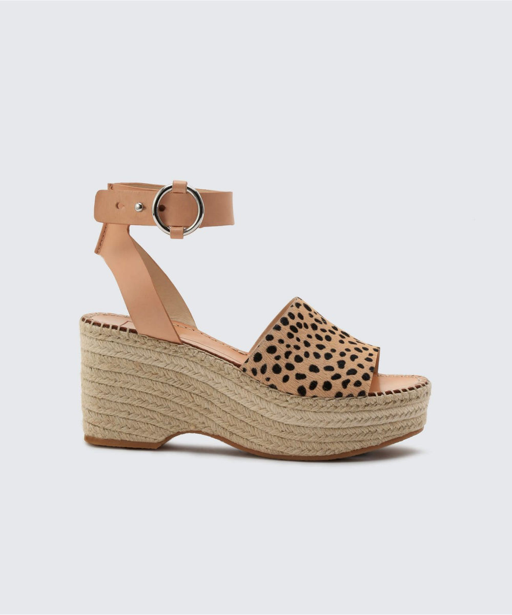 lesly wedges in leopard
