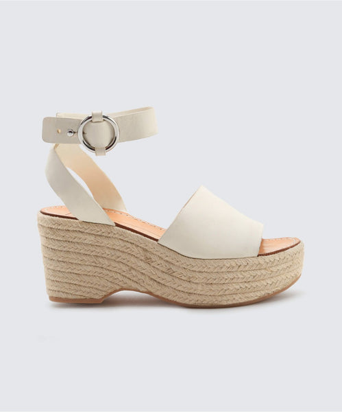 LESLY WEDGES IN OFF WHITE -   Dolce Vita