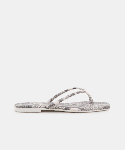 LYZA SANDALS IN STONE SNAKE PRINT LEATHER -   Dolce Vita