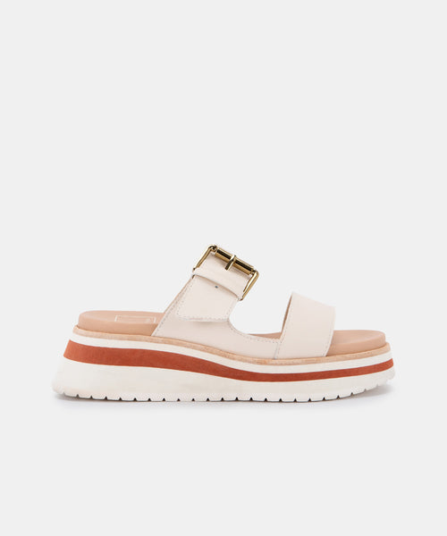 MACEN SANDALS IN IVORY LEATHER -   Dolce Vita