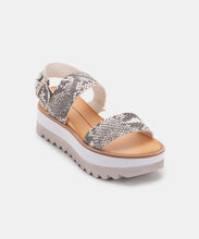 MOXIE SANDALS IN STONE SNAKE PRINT LEATHER -   Dolce Vita