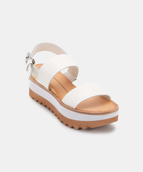 MOXIE SANDALS IN WHITE LEATHER -   Dolce Vita