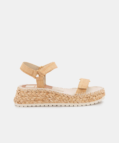 MYRA SANDALS IN LT NATURAL RAFFIA -   Dolce Vita