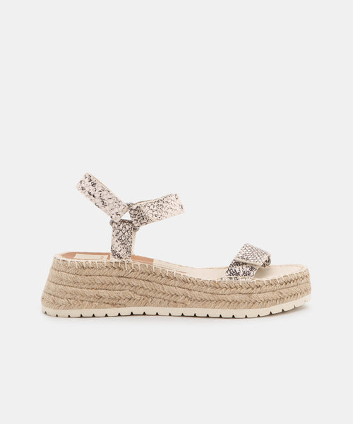 MYRA SANDALS IN STONE SNAKE PRINT LEATHER -   Dolce Vita