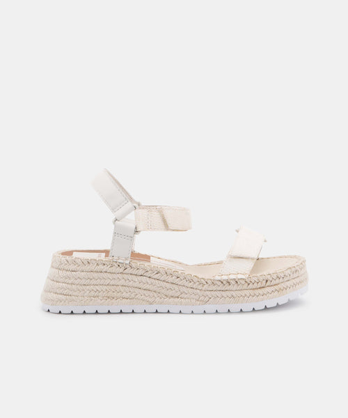 MYRA SANDALS IN WHITE EMBOSSED LIZARD -   Dolce Vita