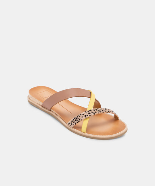 NEBI SANDALS IN LEOPARD MULTI -   Dolce Vita