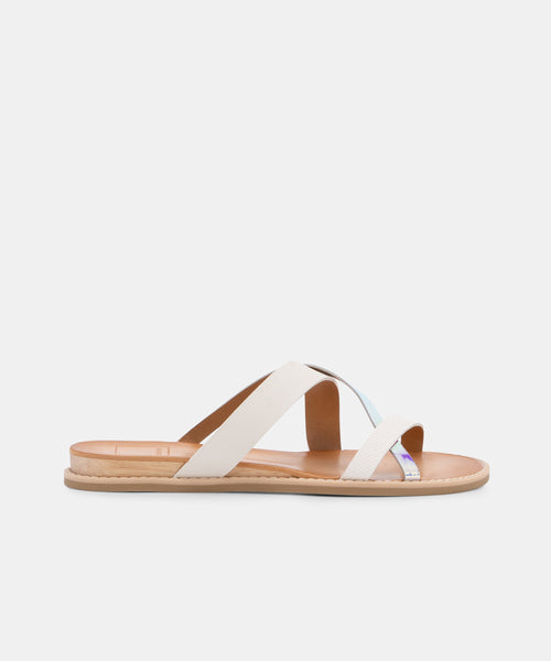 NEBI SANDALS IN WHITE MULTI -   Dolce Vita