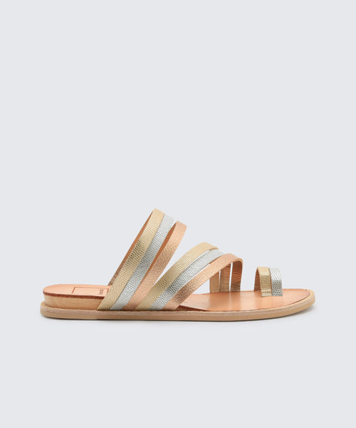 NELLY SANDALS IN METALLIC -   Dolce Vita