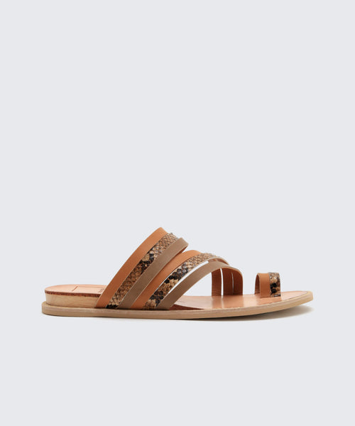 NELLY SANDALS TAN -   Dolce Vita