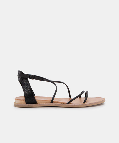 NENNA SANDALS IN BLACK STELLA
