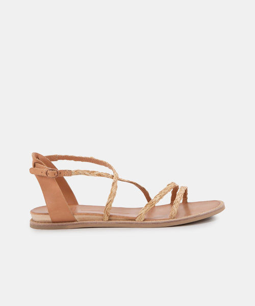 NENNA SANDALS LT NATURAL RAFFIA