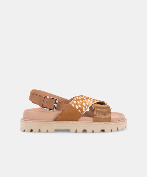 NILES SANDALS CARAMEL MULTI LEATHER -   Dolce Vita