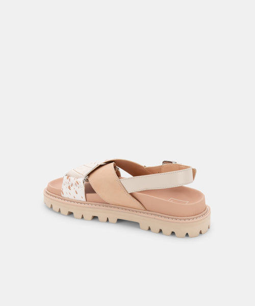 NILES SANDALS IVORY MULTI LEATHER -   Dolce Vita