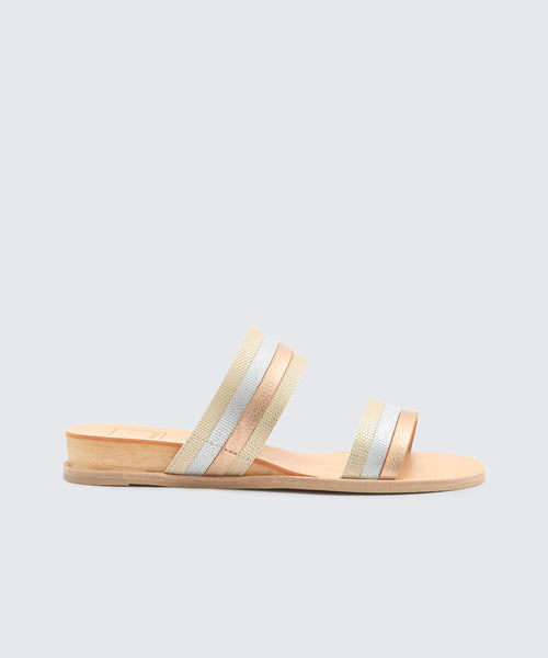 PAIS SANDALS IN METALLIC -   Dolce Vita