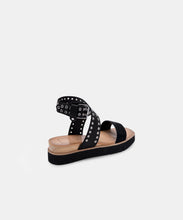 PANKO STUD SANDALS IN MIDNIGHT CALF HAIR -   Dolce Vita