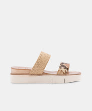 PARNI SANDALS IN DARK SAND EMBOSSED LEATHER -   Dolce Vita
