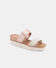 PARNI SANDALS IN ROSE GOLD MULTI EMBOSSED LEATHER -   Dolce Vita