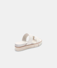 PARNI SANDALS IN WHITE EMBOSSED LEATHER -   Dolce Vita