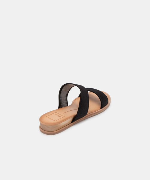 PAYCE SANDALS IN BLACK ELASTIC -   Dolce Vita