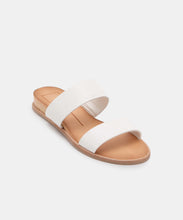 PAYCE WIDE SANDALS IN WHITE MULTI EMBOSSED LIZARD -   Dolce Vita