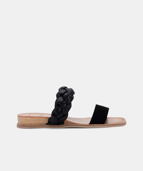 PERSEY SANDALS IN BLACK NUBUCK -   Dolce Vita