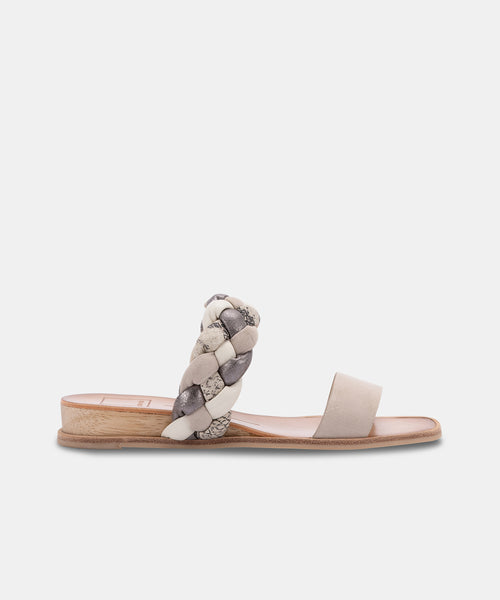 PERSEY SANDALS IN GREY MULTI SUEDE -   Dolce Vita