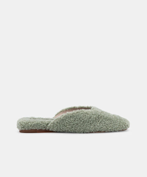 SAYDEE SLIPPERS IN JADE PLUSH -   Dolce Vita