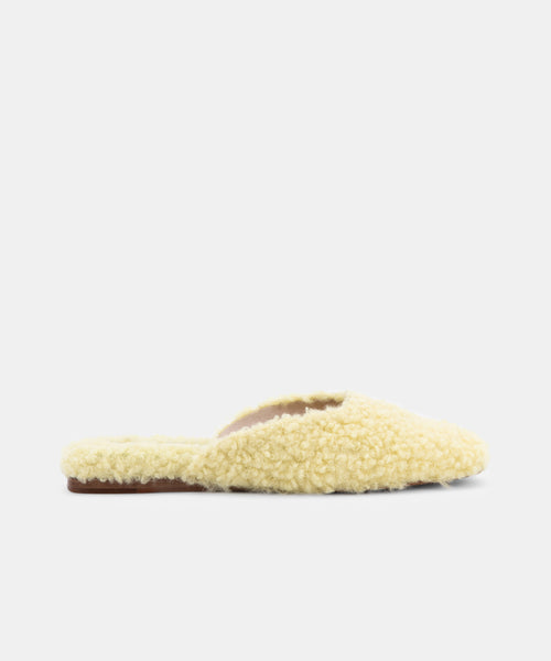 SAYDEE SLIPPERS IN LIMON PLUSH -   Dolce Vita