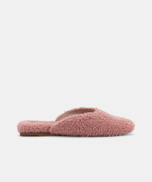 SAYDEE SLIPPERS IN ROSE PLUSH -   Dolce Vita