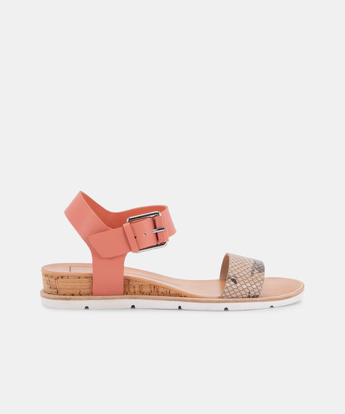 VADA SANDALS IN BLUSH/SNAKE -   Dolce Vita