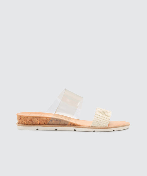 VALA SANDALS IN OFF WHITE/CRYSTAL -   Dolce Vita