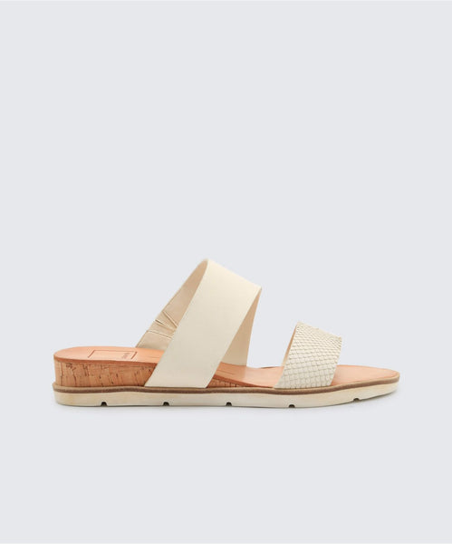 VALA SANDALS IN OFF WHITE -   Dolce Vita