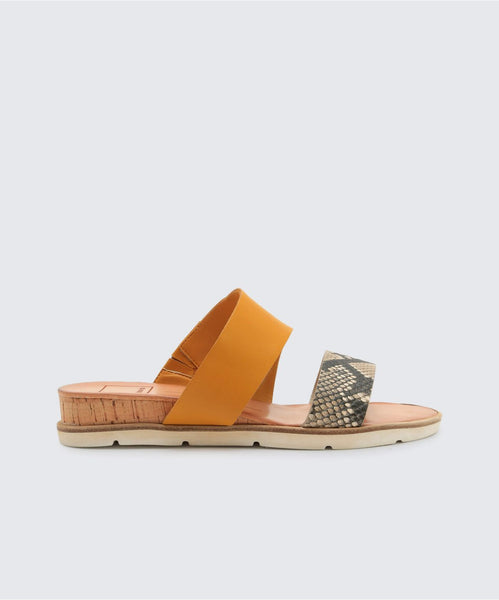 VALA SANDALS IN SNAKE -   Dolce Vita