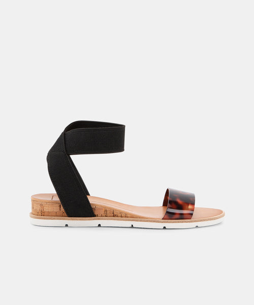 VIVIAN SANDALS IN BLACK MULTI -   Dolce Vita