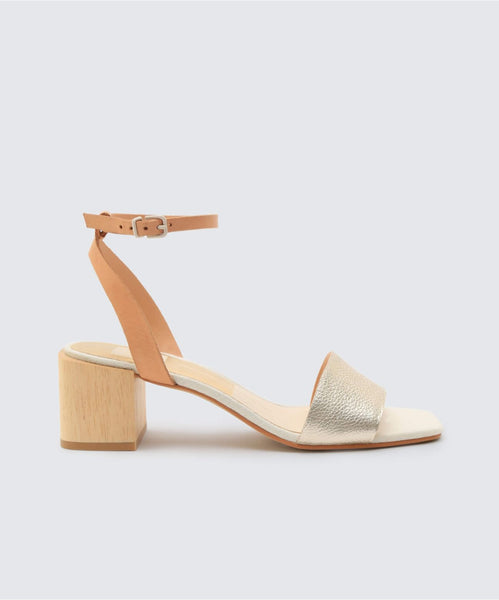 ZARITA SANDALS IN LT GOLD -   Dolce Vita