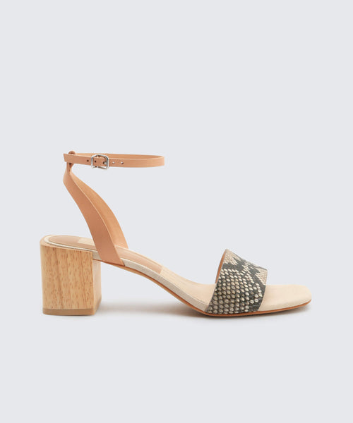 ZARITA SANDALS IN SNAKE -   Dolce Vita
