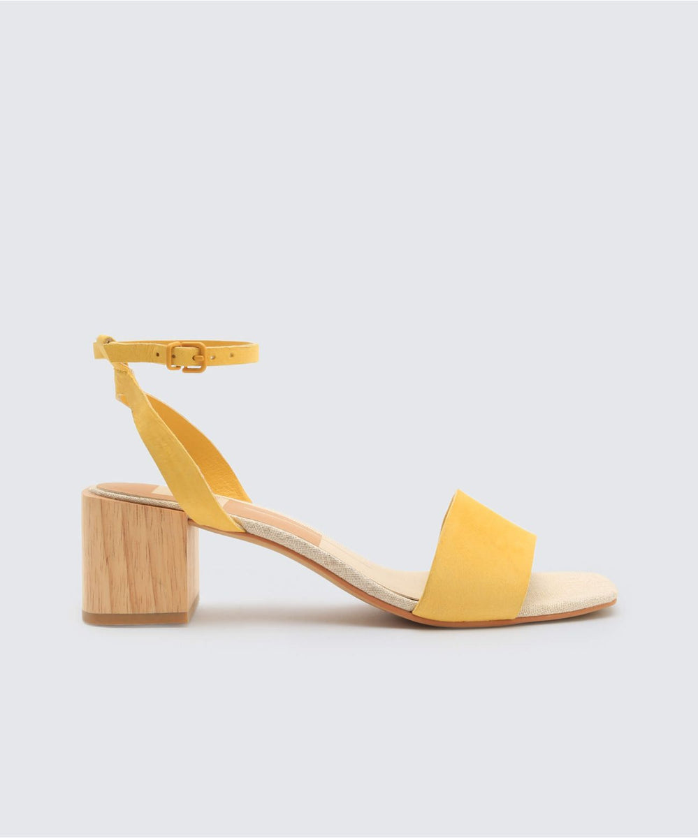 ZARITA SANDALS YELLOW – Dolce Vita