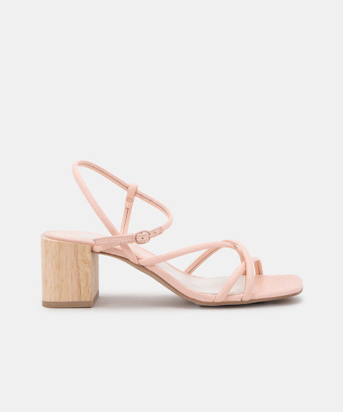 ZAYLA HEELS IN ROSE EMBOSSED LIZARD -   Dolce Vita