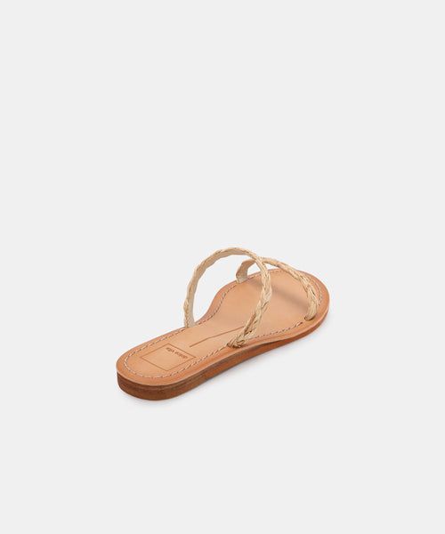 DARLA SANDALS IN LT NATURAL RAFFIA -   Dolce Vita