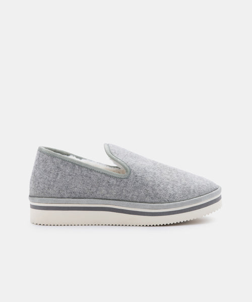 HERVE SLIPPERS IN GREY FELT -   Dolce Vita