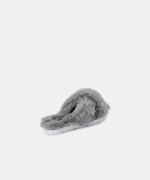 PILLAR SLIPPERS IN GREY FAUX FUR -   Dolce Vita