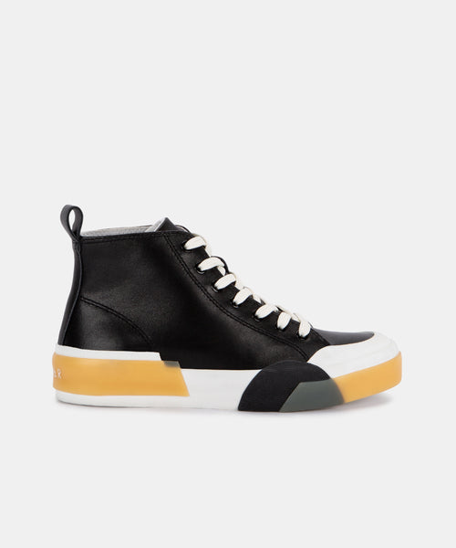 BLAYKE SNEAKERS IN BLACK ECO LEATHER -   Dolce Vita