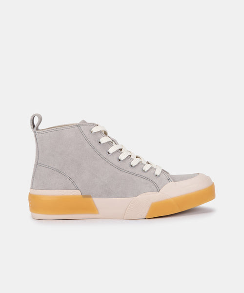 BLAYKE SNEAKERS IN GREY ECO SUEDE -   Dolce Vita
