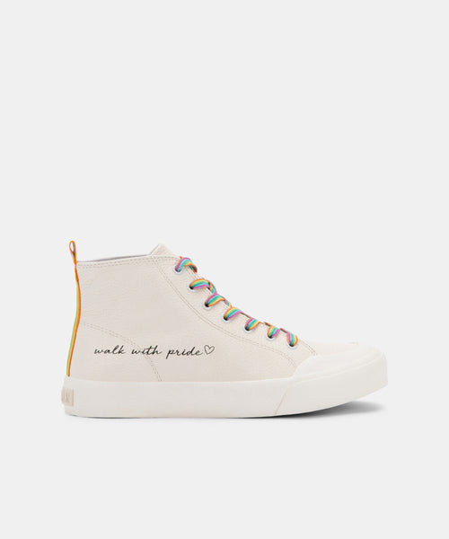 BRYCEN PRIDE SNEAKERS WHITE LEATHER -   Dolce Vita