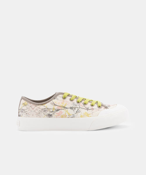 BRYTON SNEAKERS IN CREAM MULTI FLORAL -   Dolce Vita