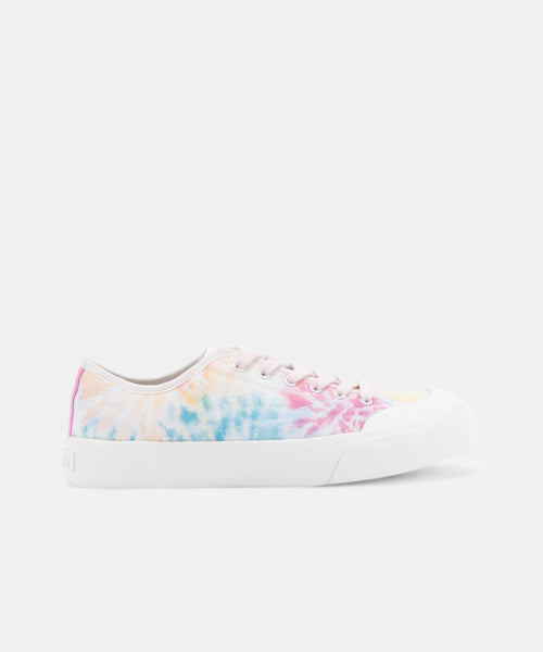 BRYTON SNEAKERS IN TEAL MULTI TIE DYE -   Dolce Vita
